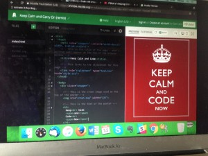 Keep Calm and Code Now
